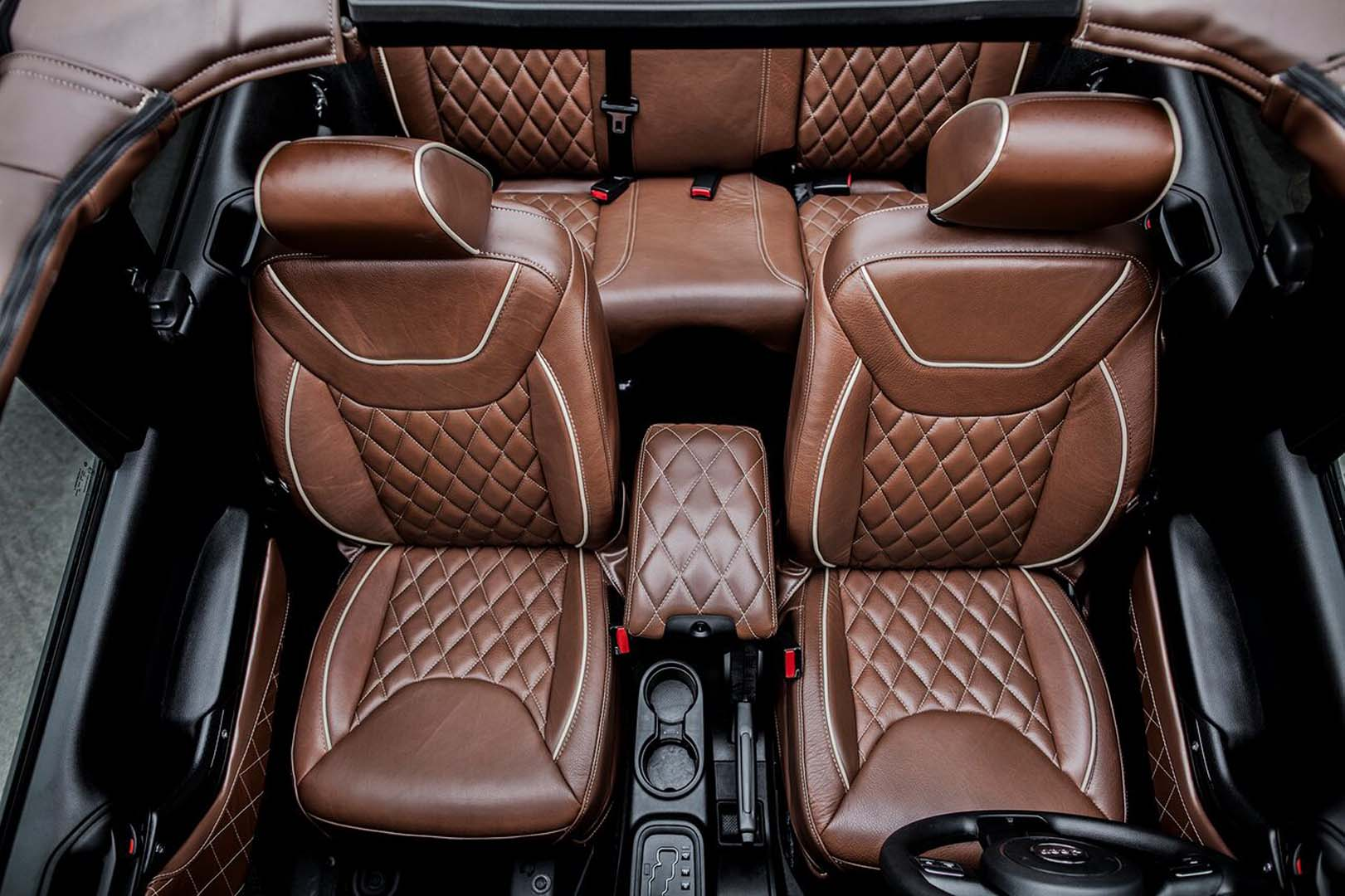 Brown Leather Seats